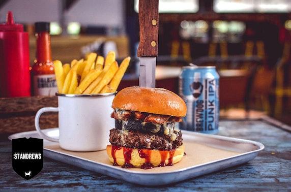 Brewdog St Andrews burgers & fries