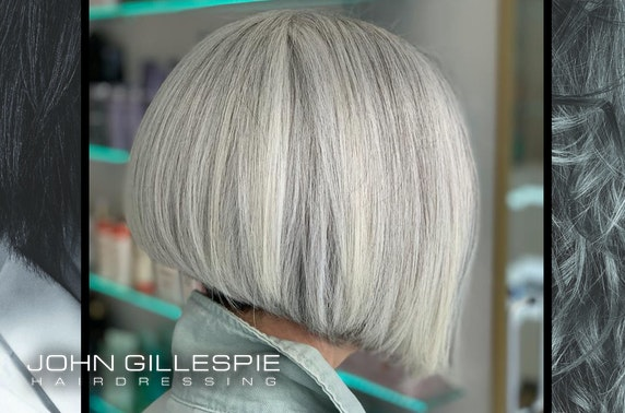 John Gillespie blow dry or colour