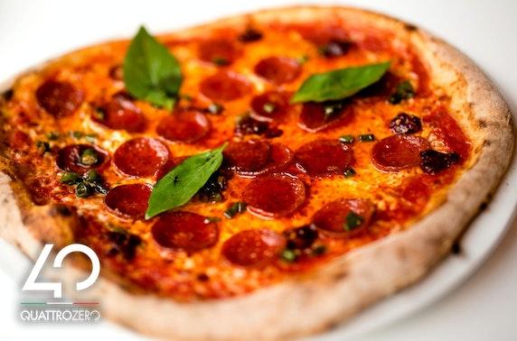 Italian dining at Quattrozero, West End