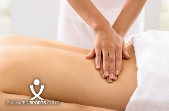 Balanced Sports Clinic massage, Kintore