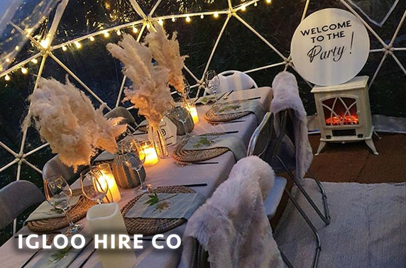 Luxury igloo hire