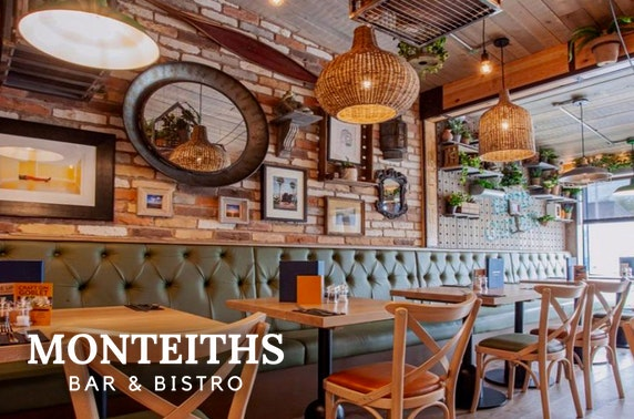 Monteiths Bar & Bistro dining and drinks