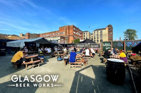 Glasgow Beer Works tasting flights
