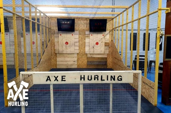 Axe throwing session, Dundee