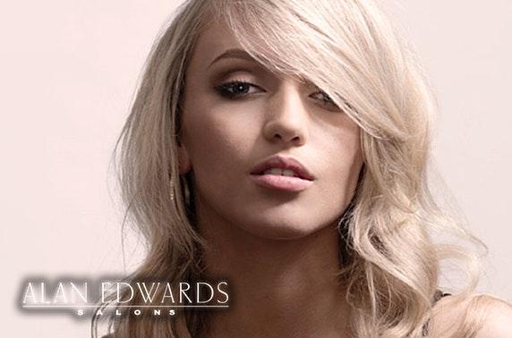 Award-winning Alan Edwards cut & blow dry