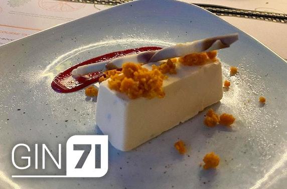 Gin71 tasting menu