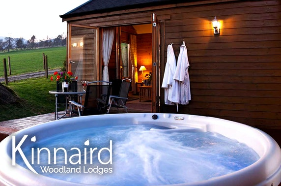 Pitlochry winter lodge break with hot tub