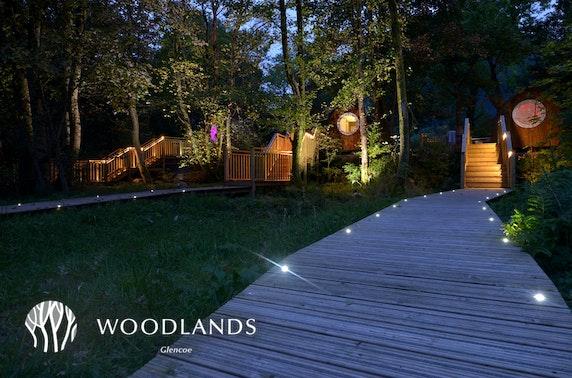 Romantic luxury hot tub lodge stay, Glencoe