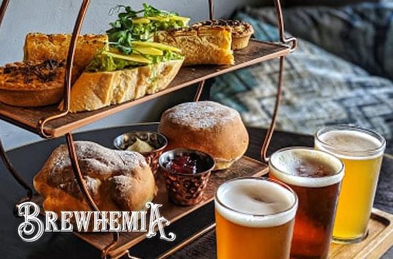 Gentleman's afternoon tea, Brewhemia