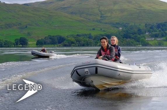Powerboat driving, Loch Tay