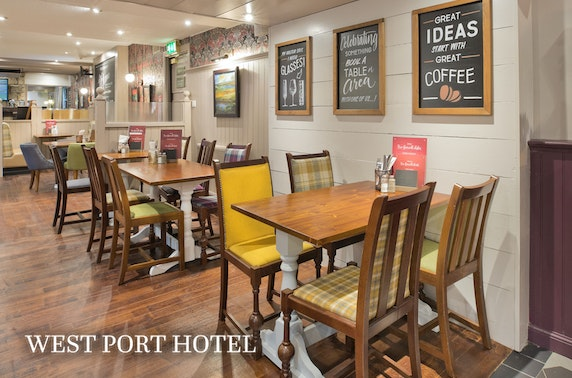 West Port Hotel stay, Linlithgow