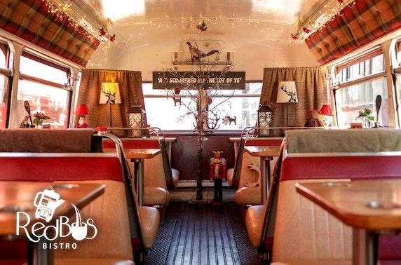 Red Bus Bistro afternoon tea tour, Edinburgh